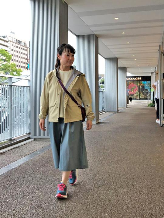 散歩やお出掛けに、快適な履き心地キュロット