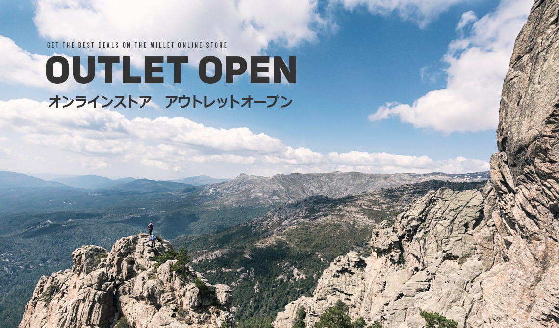 GET THE BEST DEALS ON THE MILLET ONLINE STORE OUTLET OPEN オンラインストア アウトレットオープン